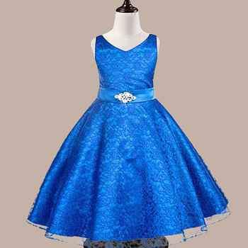 Enfant girls prom dresses Lace dress Summer Ball Gown Children Paty dress Princess Birthday clothes Vetements fille clothing